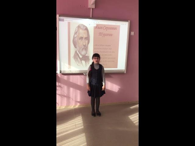 Изображение предпросмотра прочтения – ВалерияБлагова читает произведение «Как грустный взгляд, люблю я осень» И.С.Тургенева