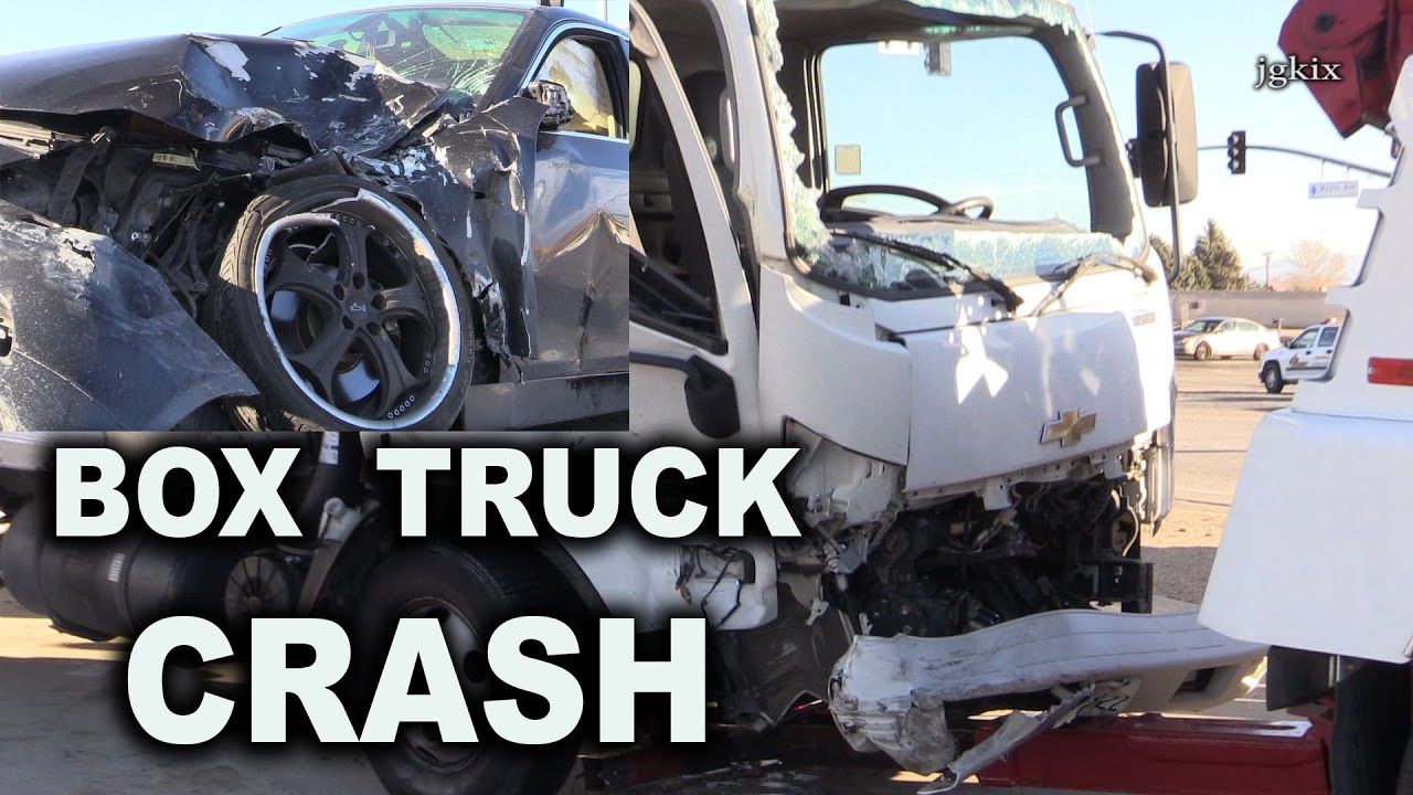 Box Truck Crash In Hesperia 1 14 16 Youtube
