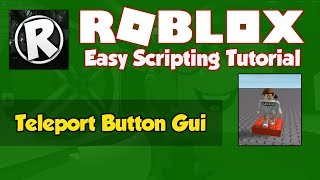 Roblox | How to Script a Teleport Button Gui