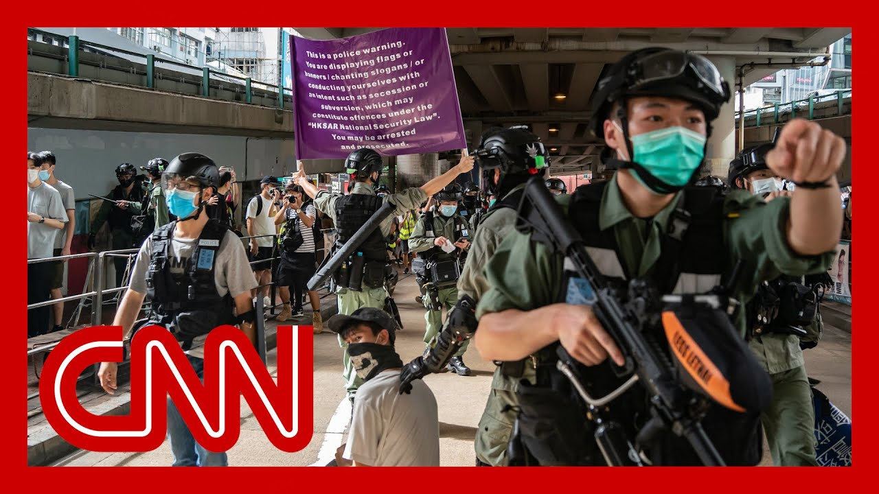 Hundreds arrested on first day of Hong Kong national security law