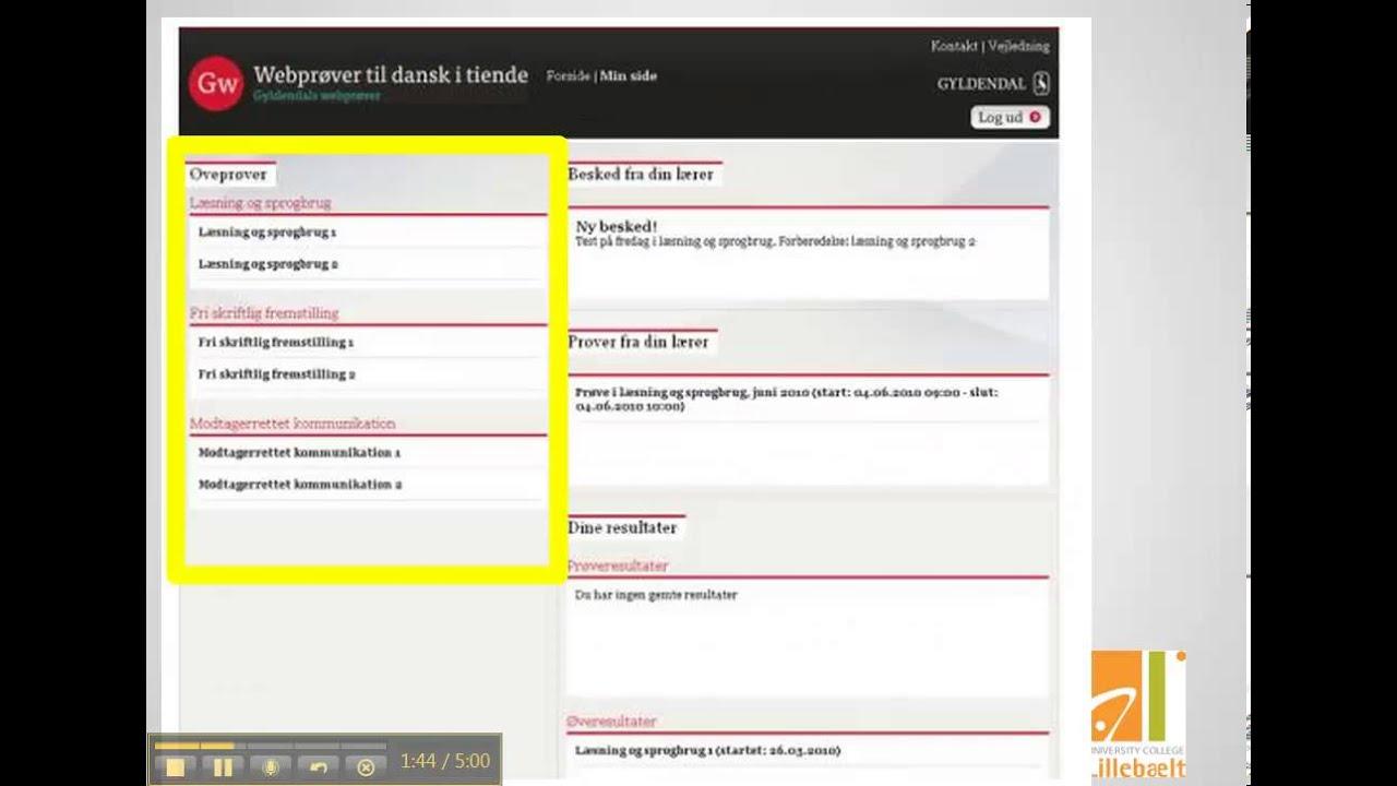 Webprøver til dansk i tiende