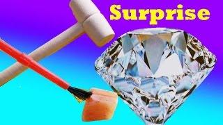 GIANT SURPRISE DIY Mystery DIAMOND or Rock ? Christmas Stocking Stuffer Kids Dig It Huge Surprise