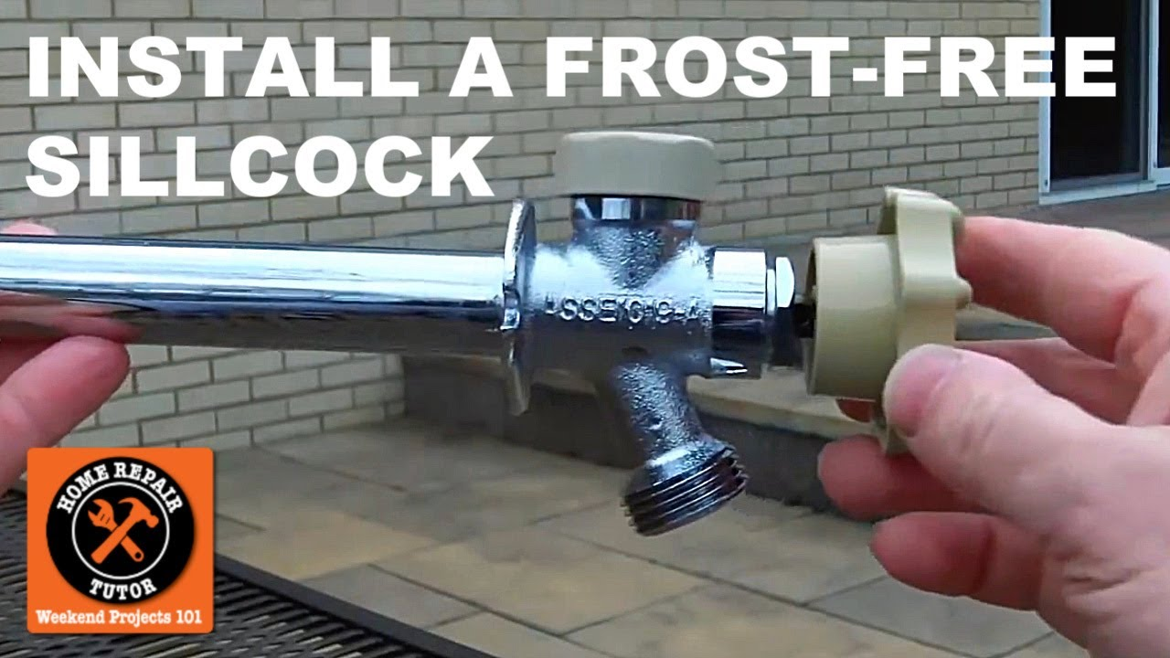 how to install a frost free sillcock part 2 installation tips