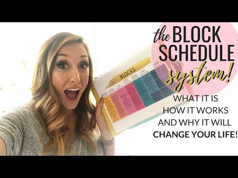 """The """"Block Schedule"""" System - LIFE CHANGING productivity hack!"""