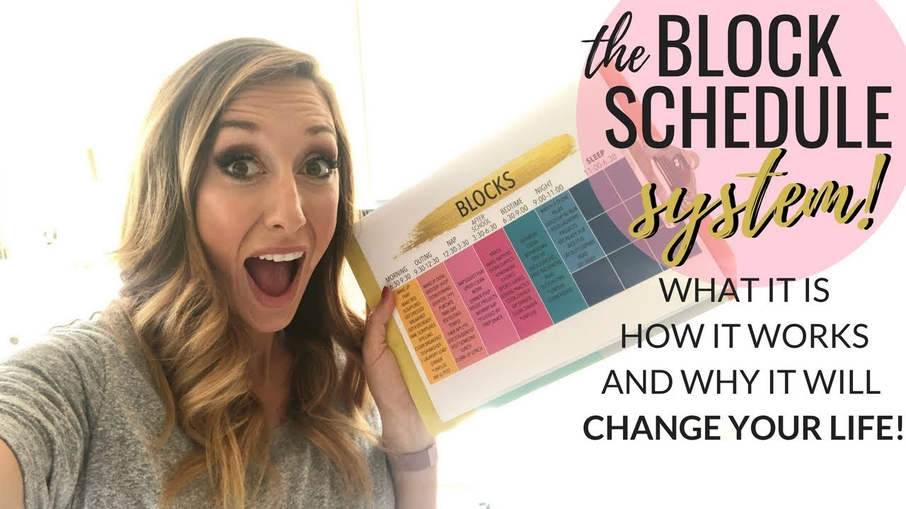 "The ""Block Schedule"" System - LIFE CHANGING productivity hack!"