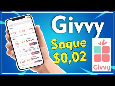 GIVVY - NOVO APP COM SAQUE MÍNIMO DE $0,002   2020✔️