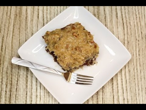 Old Fashion German Chocolate Cake Homemade (Saturday Dessert) Legacy
