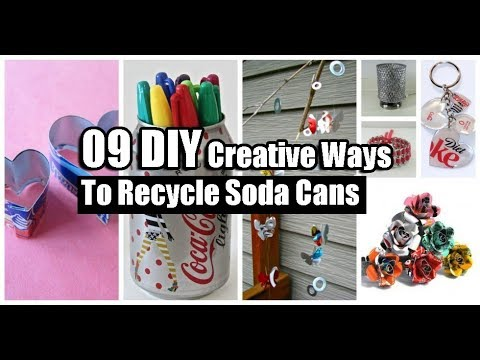 09 DIY Creative Ways To Recycle Soda Cans