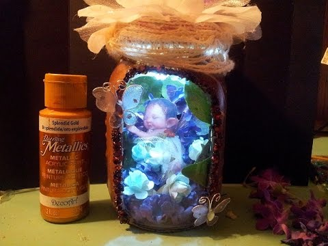 Lets Create Live: Captured Fairy Jar : Altered Jar