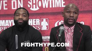 FLOYD MAYWEATHER AND ADRIEN BRONER DISCUSS WO...