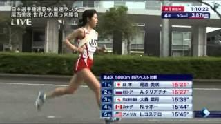 国際千葉駅伝の大森菜月さんの走りとインタビュー.
