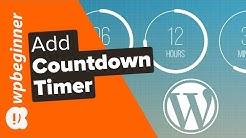 How to Add a Countdown Timer Widget in WordPress (3 Methods)
