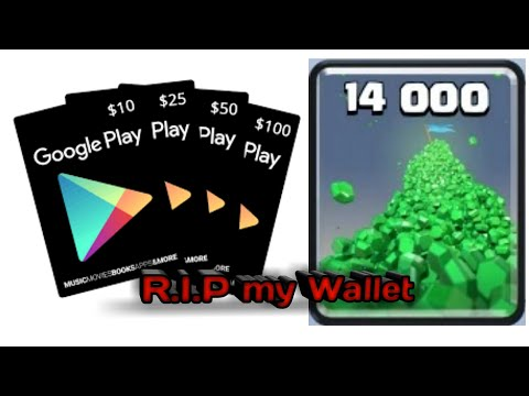 Buy Gems With Google Play Card[Clash Royale