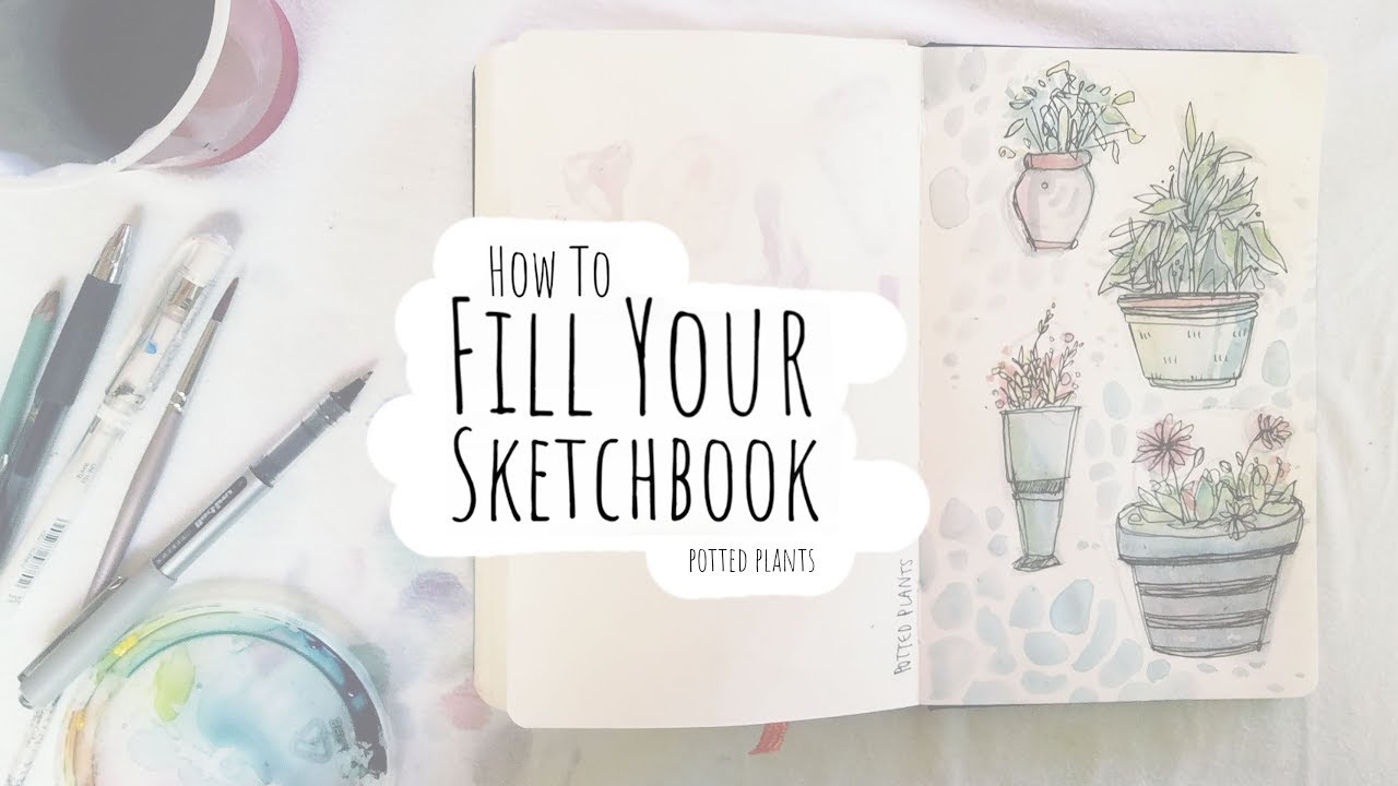 How to Fill Your Sketchbook / Sketchbook Ideas 02 - YouTube