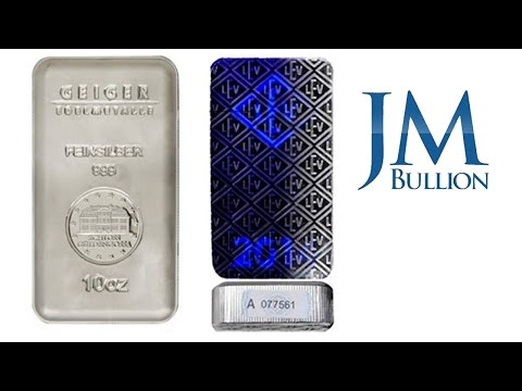 10 oz Geiger Mint Silver Bars - JMBullion.com
