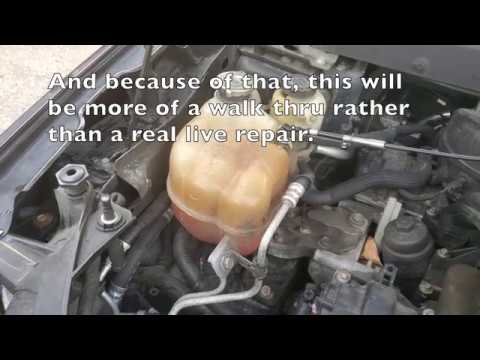 How to replace the coolant reservoir on a Dodge Journey or other FWD Chrysler Product