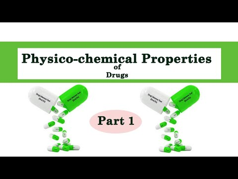 Physicochemical Properties Of Drugs Part I Lesson By Prof CS Bhan