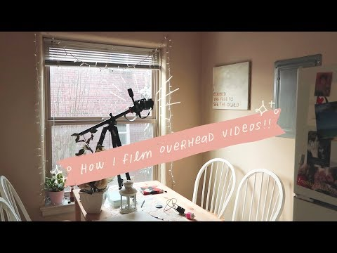 how i film overhead videos 📹✨ for journaling, drawing, etc.