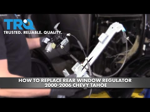 How To Replace Rear Window Regulator 2000-06 Chevy Tahoe