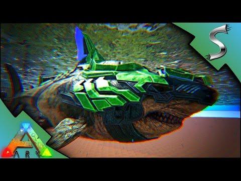 TEK MEGALODON SADDLE! MUTATED TEK LASER SHARK VS ALPHA MEGALODON - Ark: Survival Evolved [S3E97]