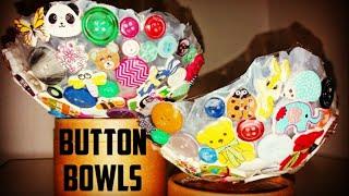 DIY Button Bowls for Kids - button craft - craft ideas for kids - button art