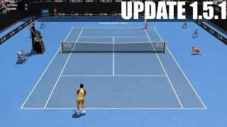 Full Ace Tennis Simulator - UPDATE 1.5.1 - Stefanos Tsitispas vs Roger Federer - PC Gameplay