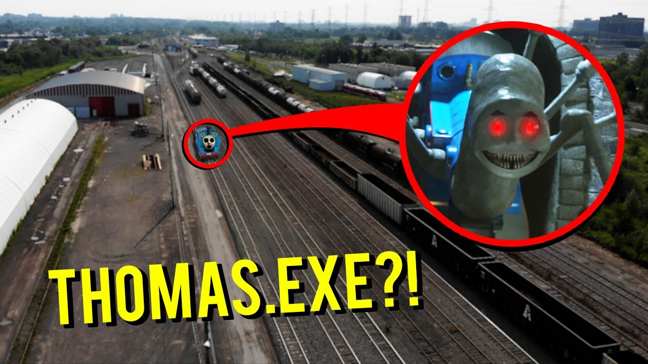 Download DRONE CATCHES THOMAS THE TRAIN.EXE AT ABANDONED TRAIN STATION!! (HE CAME AFTER US)