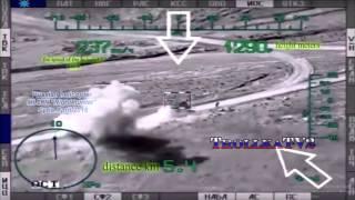 Ми 28Н ВКС РФ в Сирии, уничтожает грузовики игил