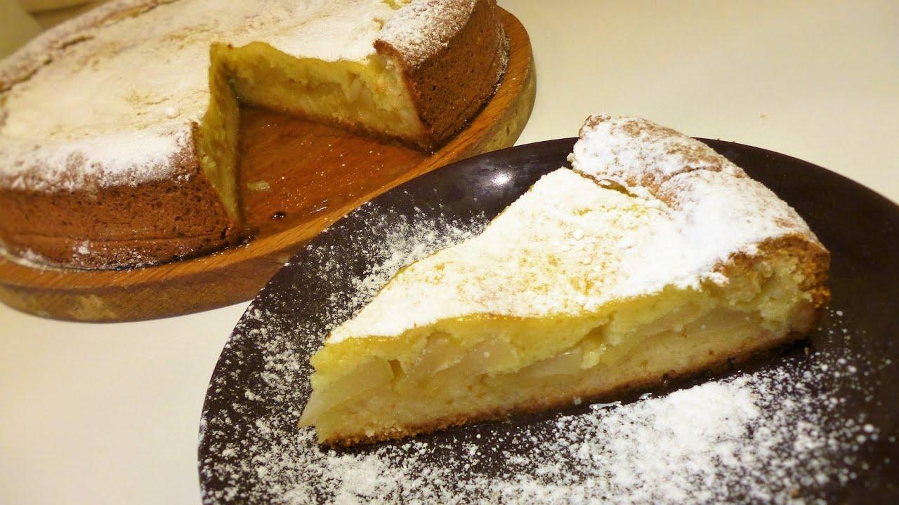 Грушевый пирог с кремом