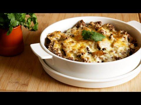 gratin-viande-hachée,-champignons