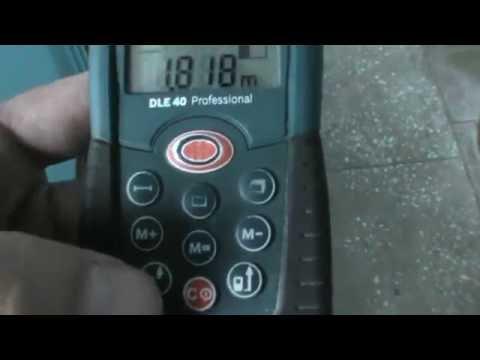 Лазерный дальномер Bosch DLE40  Обзор