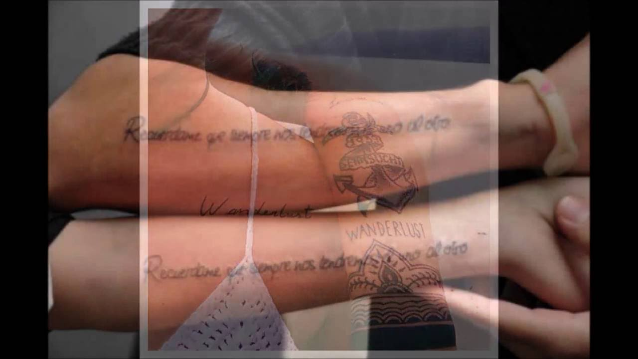 Typography And Calligprahy For Couple Tattoos