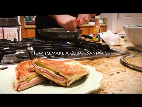 How to make home made cuban sandwich南米キューバの食べ物キューバサンドの作り方 簡単で美味しいサンドイッチ