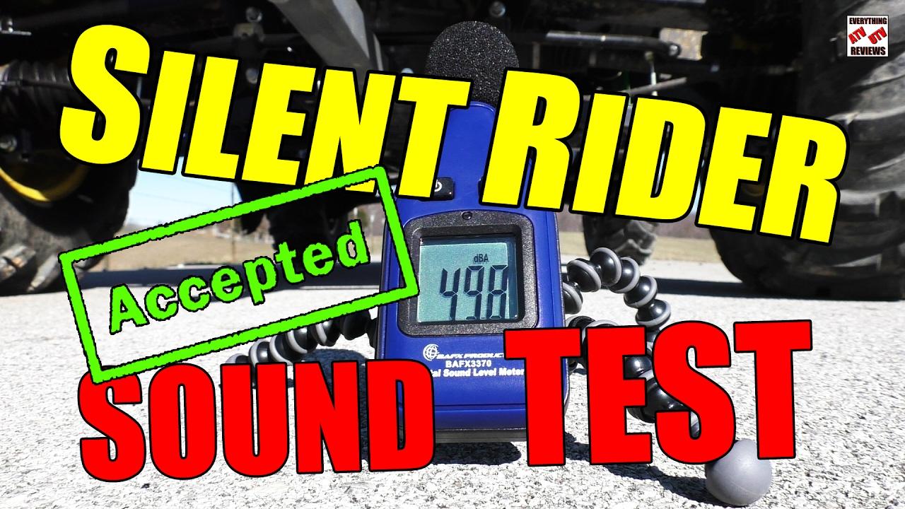 SILENT RIDER NOISE LEVEL TEST ATV/UTV Exhaust Silencer - STEALTH OPERATION