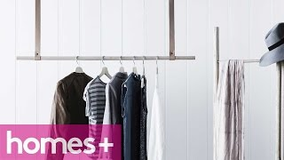 Diy Project: Timber & Leather Clothes Rail - Homes+