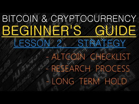Crypto Investing Strategy - Altcoin Checklist and Research Process