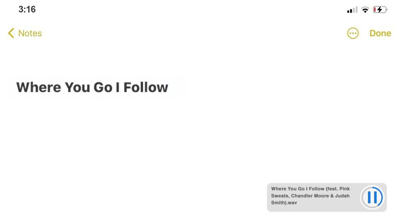 Download Justin Bieber - Where You Go I Follow (feat. Pink Sweat$, Chandler Moore, Judah Smith)
