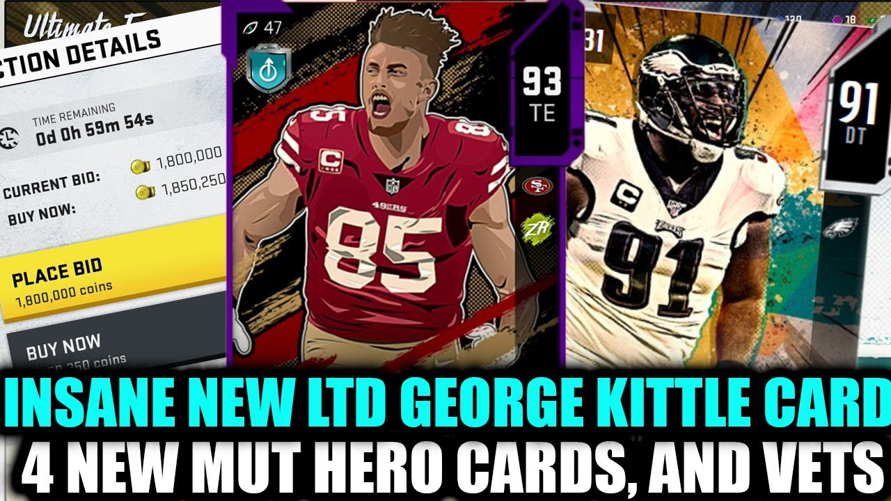 Insane New Ltd George Kittle Best Tight End In The Game 4 New Mut Heroes Madden 20 Ultimate Team