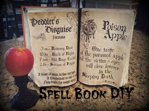 Halloween Spell Book/Book of Shadows Tutorial