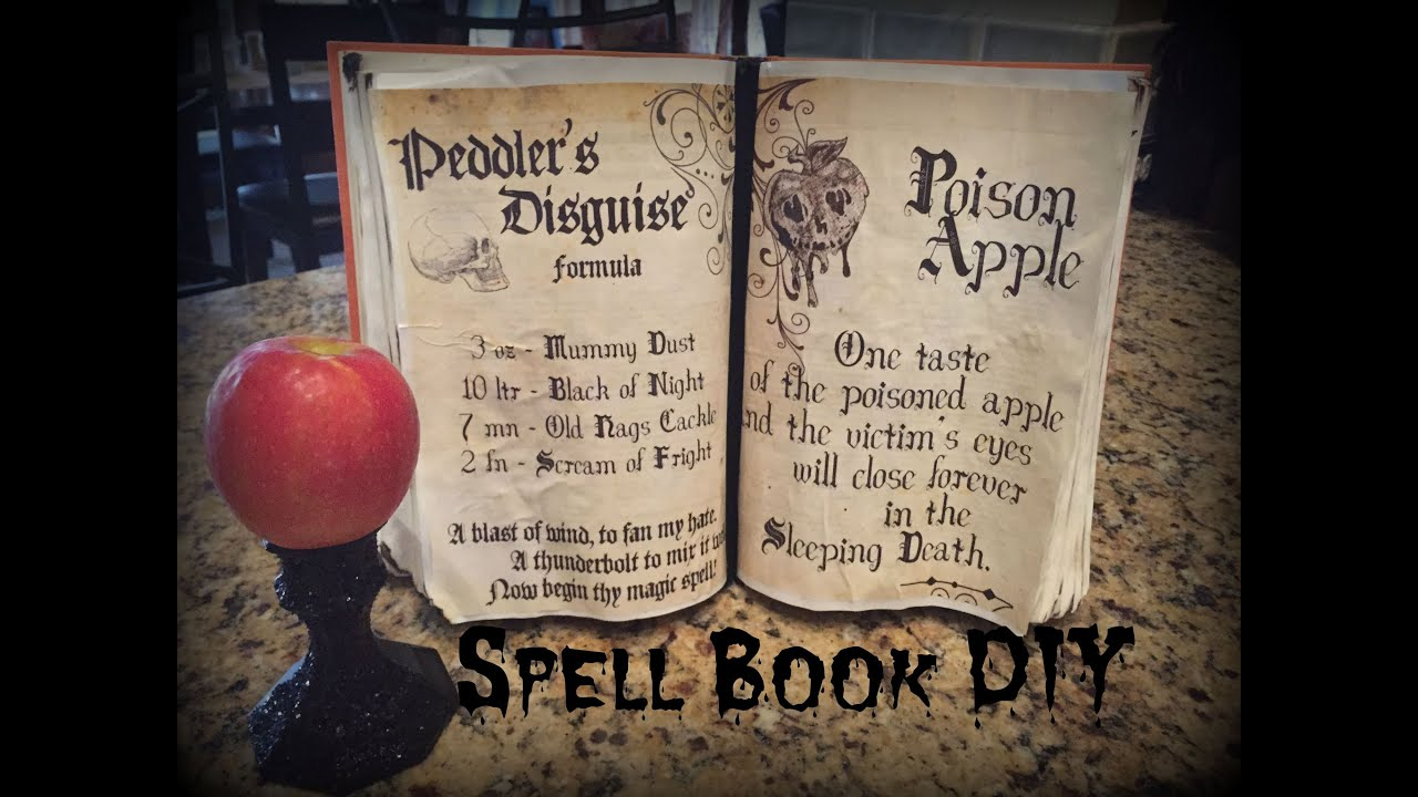 halloween spell book/book of shadows tutorial - youtube