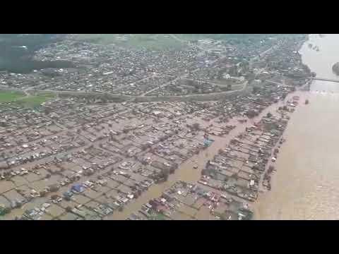 Нижнеудинск под водой  Видео с вертолета МЧС