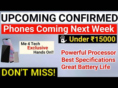 Upcoming Confirmed Phones Under 15000 in October 2018 | in India | Upcoming Smartphone Launch events