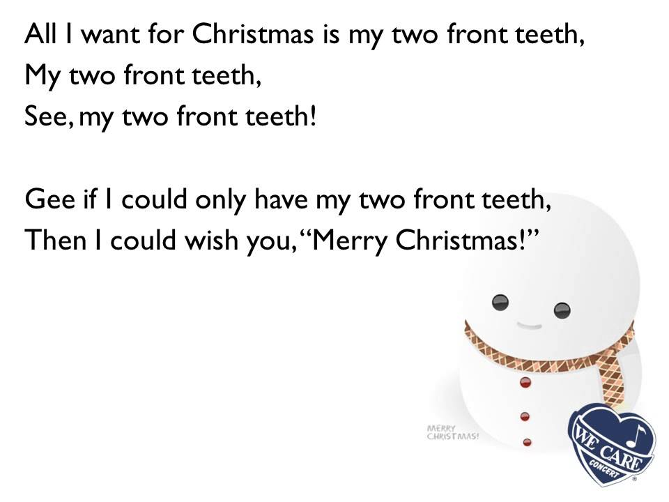 All I Want For Christmas Is My Two Front Teeth - YouTube