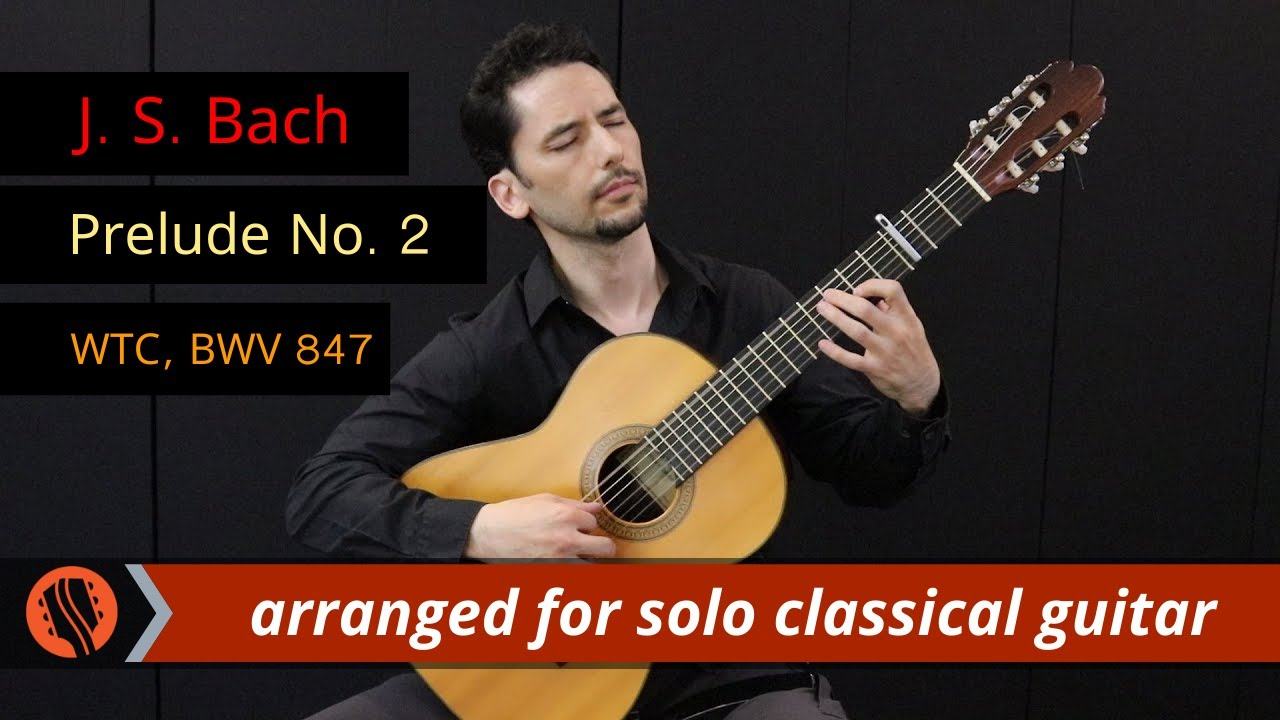 WTC Prelude No  2 in C minor by J  S  Bach, arr  by Emre Sabuncuoglu for  solo classical guitar