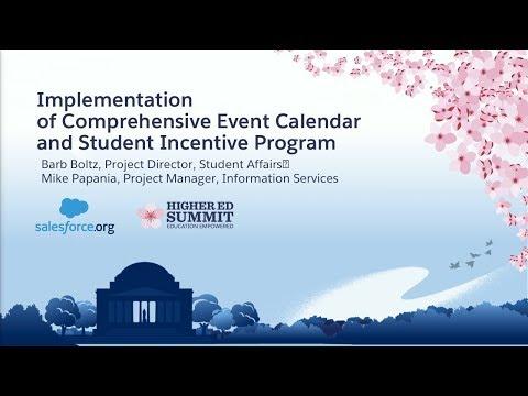 Implementation of Comprehensive Event Calendar and Student Incentive Program