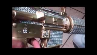 real life diamond camo m4 airsoft gun