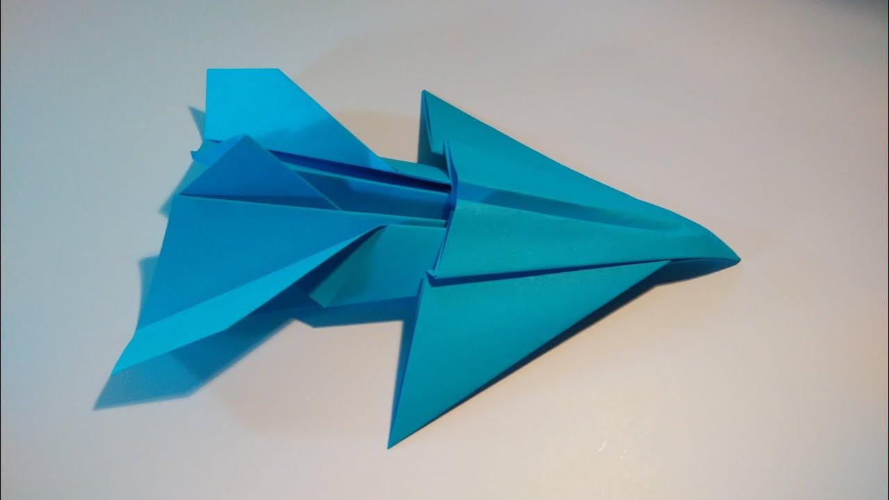 Como hacer un avi n de papel jet fighter youtube - Como hacer jarrones de papel ...