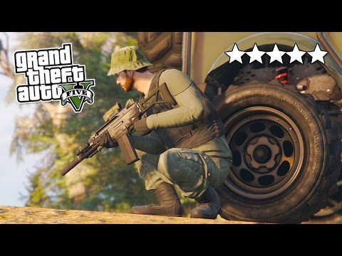 GTA 5 Online 5 STAR Destruction! 5 Star POLICE Getaway in GTA Online! (GTA 5 PS4 Gameplay)