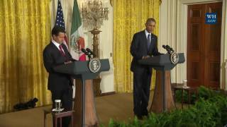 """No Wall"" Obama Gives Mexican president a Megaphone against Trump"