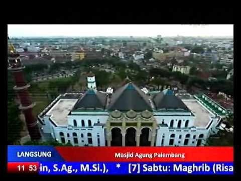 Qori Qosim adzan asar sedih di Masjid Agung Palbng